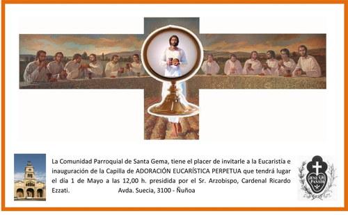 Parroquia Santa Gema invitación adoración